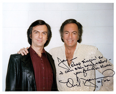 Jay White with Neil Diamond
