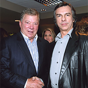 Jay White with William Shatner