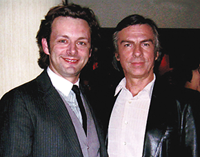 Jay White with Michael Sheen